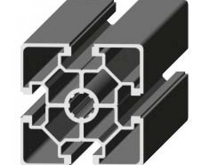 Perfil de Aluminio 60 x 60 Canal de 10 mm