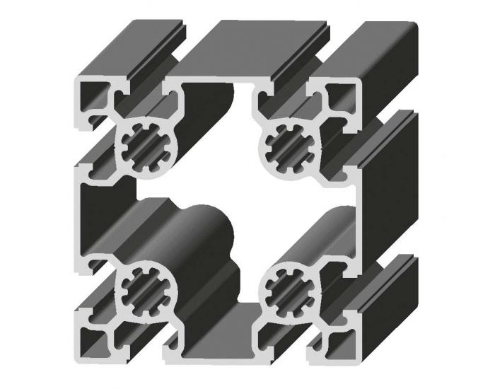 Perfil de Aluminio 90 x 90 Canal de 10 mm