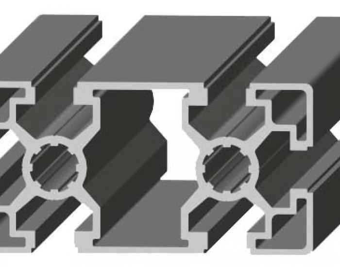 Perfil de Aluminio 45 x 90 Canal de 10 mm