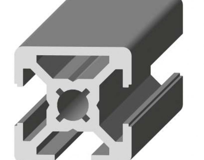 Perfil de Aluminio 20 x 20 (1 Cara Lisa)     Ref. 5048