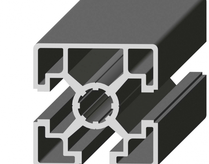 Perfil de Aluminio 1 Cara Lisa 45 x 45 3S Canal de 10 mm Ref. 5023