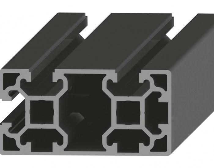Perfil de Aluminio 2 Caras Lisas 40 x 80 2S Canal de 10 mm Ref. 501290