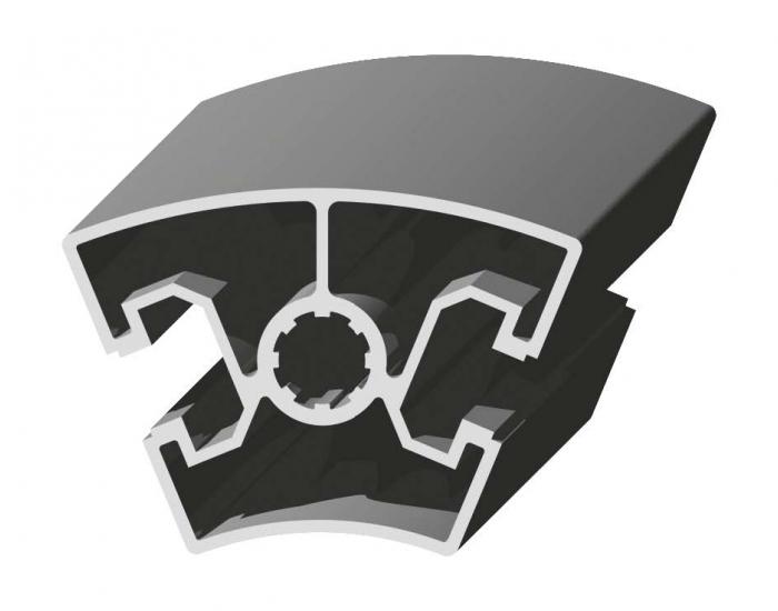 Perfil de Aluminio 45 x 45º Canal de 10 mm Ref. 5057