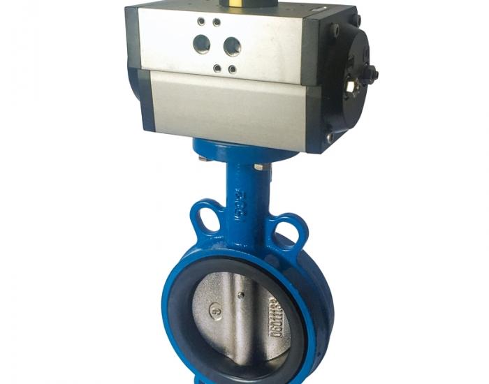 Válvula de Mariposa con Actuador Neumático