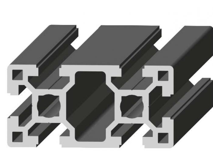 Perfil de Aluminio Pesado 40 x 80 Canal de 10 mm Ref. 5051