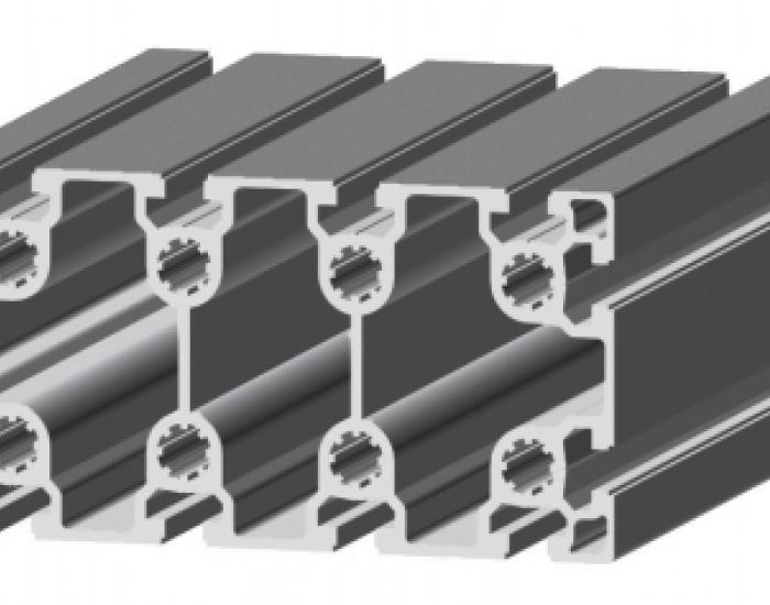 Perfil de Aluminio Básico 80 x 160 Canal de 10 mm Ref. 5061