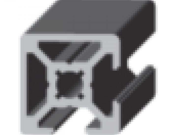 Perfil de Aluminio 20 x 20 (2 Caras Lisas)     Ref. 50492