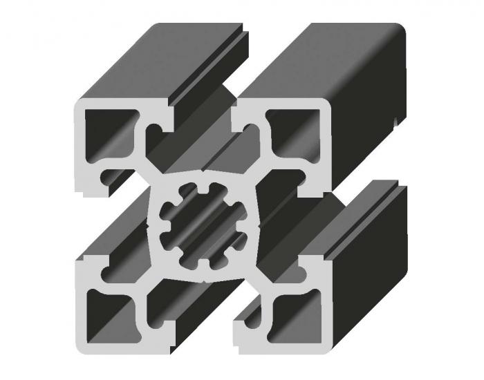Perfil de Aluminio Pesado 45 x 45º Canal de 10 mm Ref. 5002