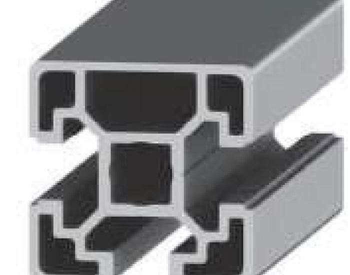 Perfil de Aluminio Básico 1 Cara Lisa 40 X 40 3S Canal de 10 mm Ref. 50093