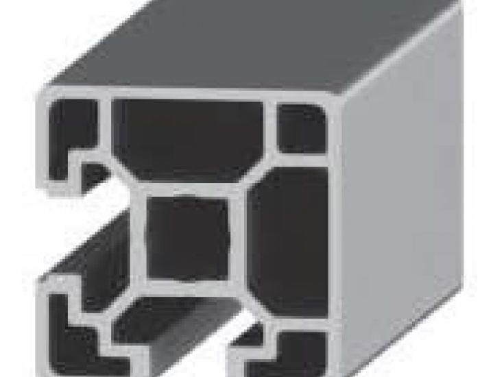 Perfil de Aluminio Básico 2 Caras Lisas 40 X 40 2S 90º Canal de 10 mm Ref. 50092